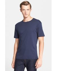 Sunspel | Blue Cotton Crewneck T-Shirt for Men | Lyst