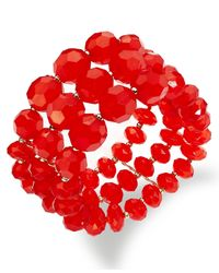 Style & Co. - Metallic Style&co. Bracelet, Gold-tone Pink And Orange Bead Coil Bracelet - Lyst