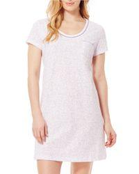Carole Hochman | Purple Short Sleeve Sleepshirt | Lyst