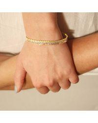 Tada & Toy - Metallic Spiny Lizard Chain Bracelet Gold - Lyst