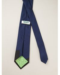 KENZO - Blue Colour-Blocked Tie for Men - Lyst