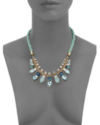 ABS By Allen Schwartz | Metallic Color Reaction Jeweled Rope Necklace | Lyst