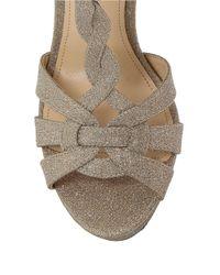 Nina - Metallic Marzia Wonderland Glitter Fabric Stilettos - Lyst