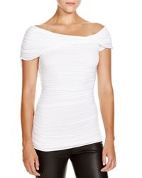 Bailey 44 | White Raquel Ruched Off-the-shoulder Top | Lyst