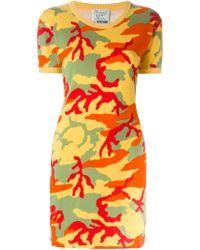 Moschino | Yellow Knitted Dress | Lyst