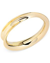 Robert Lee Morris | Metallic Gold-tone Sculptural Curved Bangle Bracelet | Lyst