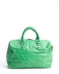 Balenciaga - Green Leather Medium Classic Polly Boston Bag - Lyst