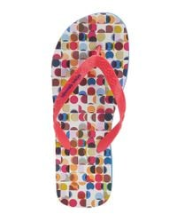 BOSS Orange | Pink 'losti' | Printed Thong Sandals for Men | Lyst