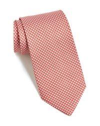 Ferragamo - Red Rhino Printed Tie for Men - Lyst
