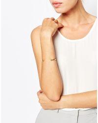 Pieces | Metallic Ilena Clean Ball End Cuff Bracelet | Lyst