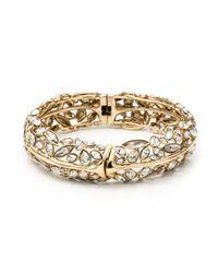 Alexis Bittar | Metallic Gold Liquid Crystal Hinge Bracelet | Lyst