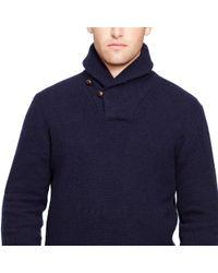 Polo Ralph Lauren | Blue Wool-angora Shawl Sweater for Men | Lyst