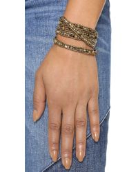 Chan Luu - Multicolor Beaded Wrap Bracelet - Abalone Mix - Lyst