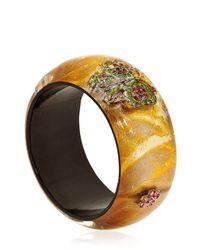Nicholas King - Metallic Crystal Butterfly Bangle Bracelet - Lyst