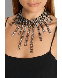 Lanvin - Metallic Crystal Strand Necklace - Lyst