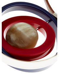 Marni - Red Horn, Leather And Resin Necklace - Lyst