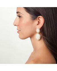 Bounkit | Moonstone & White Topaz Teardrop Earrings | Lyst