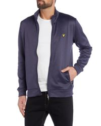 Lyle & Scott - Blue Golf Zip-through Tricot Jacket for Men - Lyst