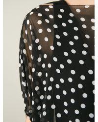 Dolce & Gabbana - Black Sheer Polka Dot Dress - Lyst