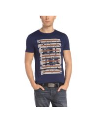 BOSS Orange | Blue T-shirt: 'taiwo 3' With A Round Neckline for Men | Lyst