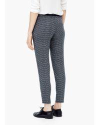 Mango | Black Printed Baggy Trousers | Lyst