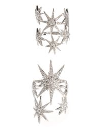 Colette | Metallic Spica Rings | Lyst