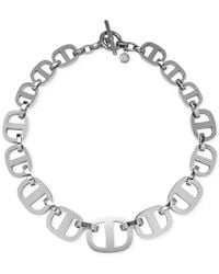 Michael Kors | Metallic Silver-Tone Maritime Link Statement Necklace | Lyst