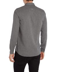 Duck and Cover - Gray Royde Long Sleeve Shirt for Men - Lyst