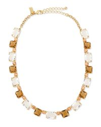 Kate Spade | Metallic Formal Facets Collar Necklace | Lyst
