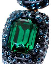 Oscar de la Renta - Green Crystal Stone Necklace - Lyst