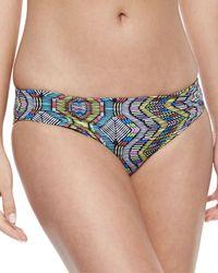 L*Space - Black Ixtapa Printed Low-rise Swim Bottom - Lyst