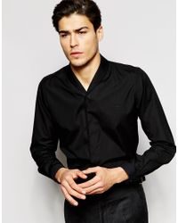 Hart Hollywood - Purple By Nick Hart Shawl Collar Shirt In Slim Fit for Men - Lyst