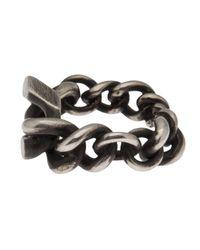 Werkstatt:münchen Metallic Interlock Chain Ring for men
