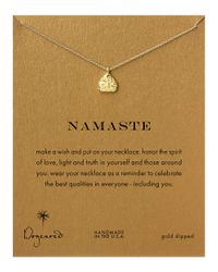 Dogeared | Metallic Namaste Necklace | Lyst