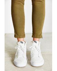 Vans - White Sk8-hi Reissue Leather Sneaker - Lyst