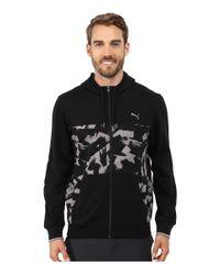 PUMA | Black Full Zip Lightweight Hoodie for Men | Lyst