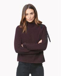 Veronica Beard | Purple Auger Tie Neck Sweater | Lyst