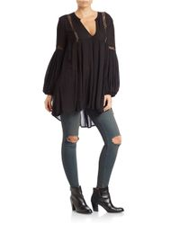 Free People | Black Just The Two Of Us Tunic | Lyst