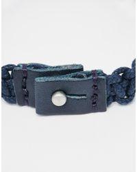 Jack & Jones | Blue Leather Bracelet for Men | Lyst