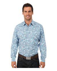 Stetson | Blue Modern Paisley Long Sleeve Snap Front Shirt for Men | Lyst