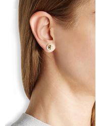 Tory Burch | White Evie Faux Pearl Stud Earrings | Lyst