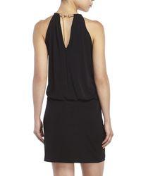 Jessica Simpson - Black Bungee Neck Dress - Lyst