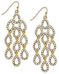 INC International Concepts - Metallic Gold-tone Large Teardrop Chandelier Drop Earrings - Lyst