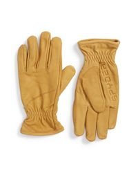 Spyder - Natural 'jaxson' Leather Ski Gloves - Lyst