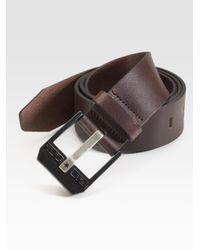 DIESEL - Black Leather Belt for Men - Lyst