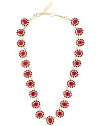 Givenchy - Red Gemstone Necklace - Lyst