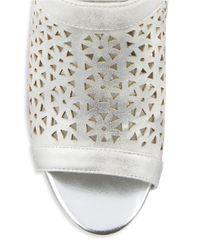 Bandolino | Metallic Stacia Laser Cut Sandals | Lyst