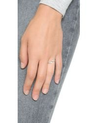 Shashi | Metallic Noa Ring - White Gold/clear | Lyst