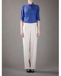 Lanvin | White Pleated Trouser | Lyst
