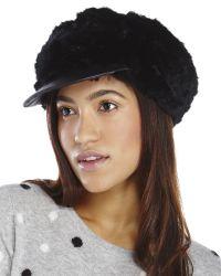 Surell - Black Real Rabbit Fur Driver Hat - Lyst